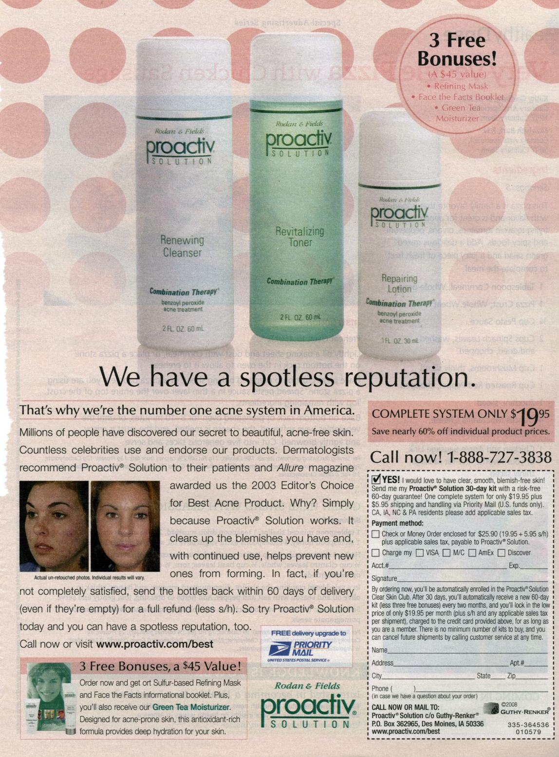 Proactive Acne Ads